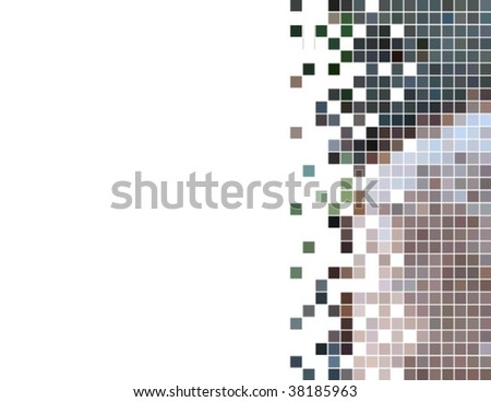abstract squares mosaic card, vector