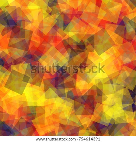 Abstract squares pattern. Pink geometric background. Unusual random squares. Geometric chaotic decor. Vector illustration.