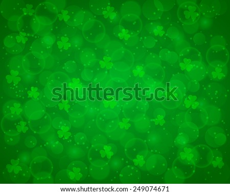 Abstract St Patrick's day background decorated with shamrocks