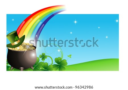 Abstract St. Patrick's Day Banner