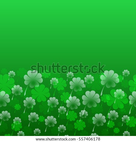 abstract st patrick's day