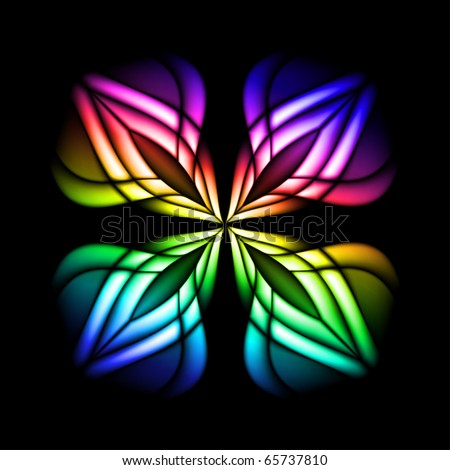abstract stain glass flower