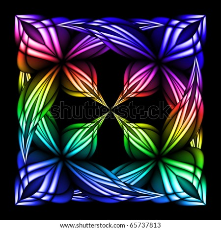 Abstract stain glass flower pattern. Vector illustration #5