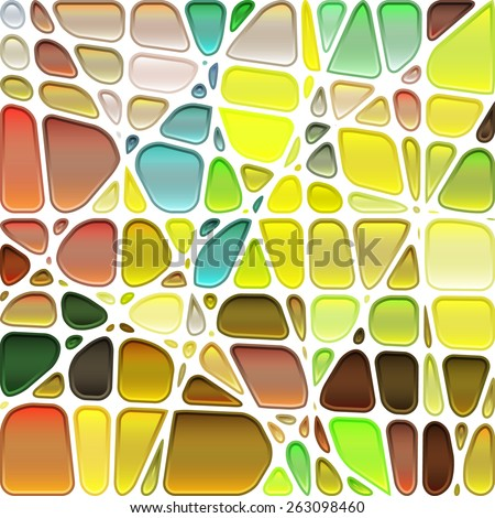 abstract stained glass mosaic