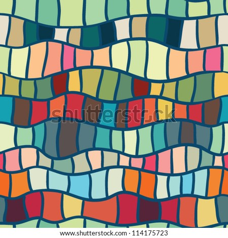 abstract stained glass seamless pattern