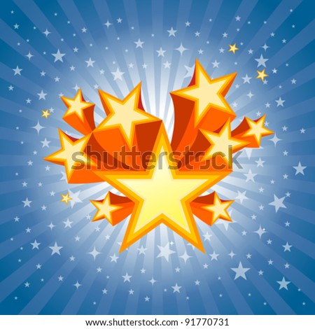 Abstract Star Burst Background - stock vector