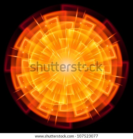 Abstract Star Explosion. Illustration on black background