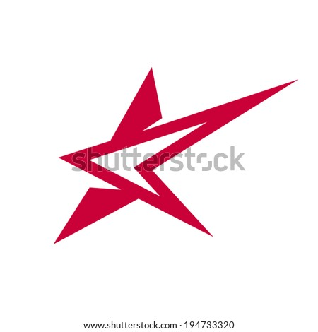 Abstract star sign Branding Identity Corporate vector unusual logo design template Isolated on a white background