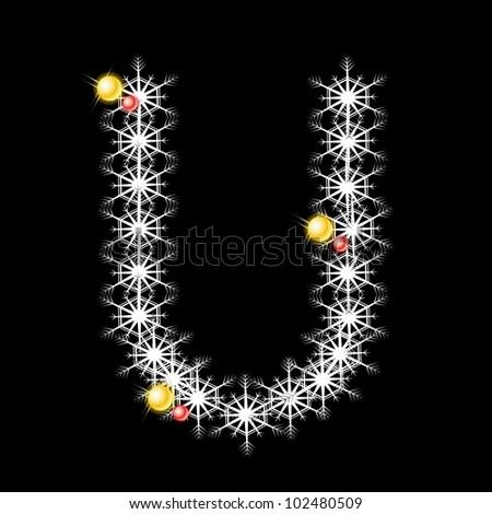 U Alphabet Images Abstract Star U Alphabet