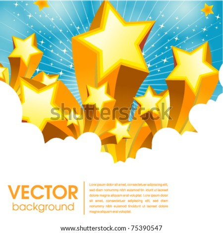 abstract star web and print template