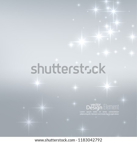 Abstract starry background, sparkle stars. Vector illustration with festive flares.