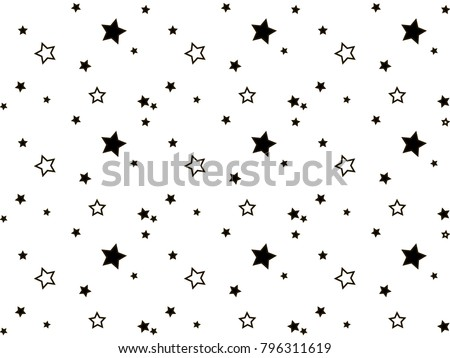 Abstract stars vector background. Stars pattern.