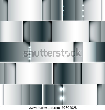 abstract steel grey background with spot light vector