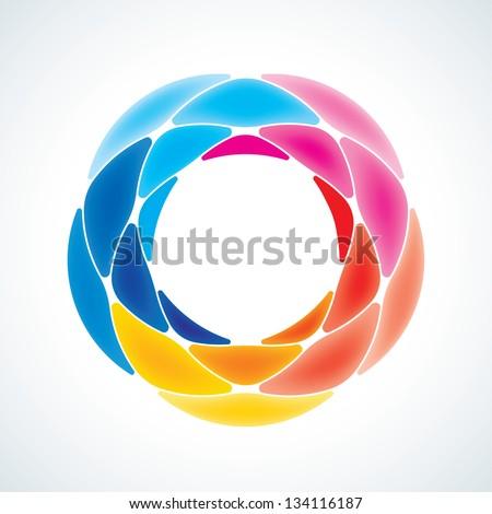 abstract stone symbol icon