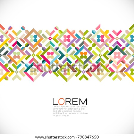 Abstract strip colorful and creative geometric with a variety pattern for leaflet business cover page, brochure, flyer, poster layout. vector illustration