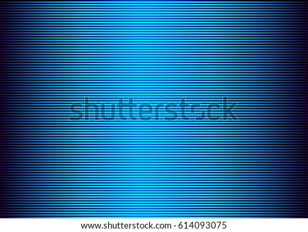 Stock Photo Abstract striped lined horizontal glowing background. Scan screen. Technological blue futuristic card with stripes. Vector illustration.