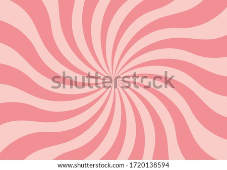 Abstract striped pattern. Pop art background. Pink candy background. Whirlpool background. Twisted background. Swirl pattern. Lollipop pattern.