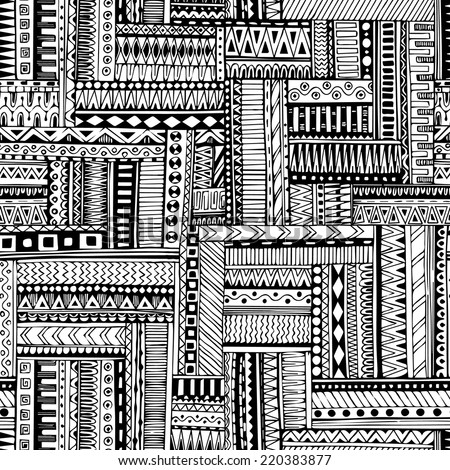 Black And White Tribal Pattern Images Stock Photos