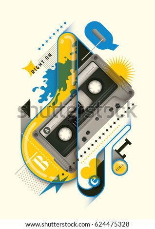abstract style poster design