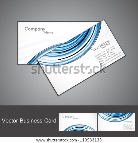 abstract stylish  bright colorful business card wave vector design
