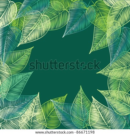Abstract stylish   foliage background. Banner. - stock vector