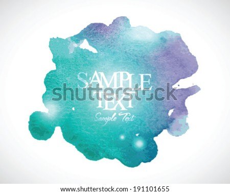 abstract stylish watercolor