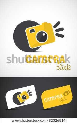 Abstract stylized camera icon such logo, vector EPS10.