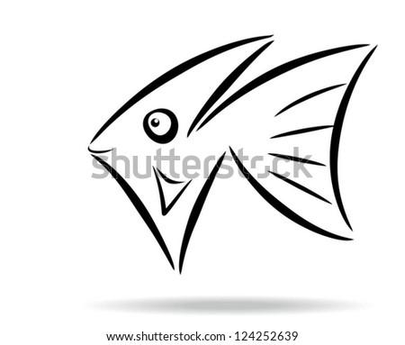 Abstract stylized fish symbol