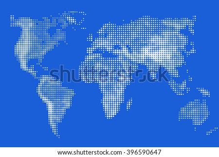 World map made with dots descargue grficos y vectores gratis abstract stylized image of world map dotted world map made circular pixel world maps gumiabroncs Choice Image