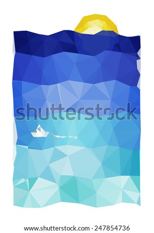 abstract stylized sea landscape