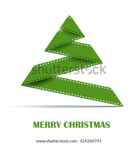 stock-vector-abstract-stylizes-christmas-tree-made-from-film-strip-design-template-background-for-greeting-card