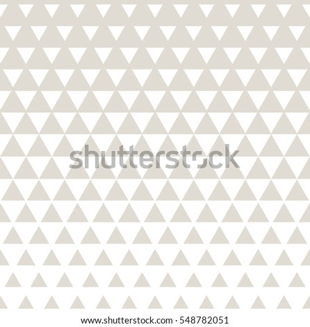Abstract subtle geometric hipster fashion design print halftone triangle pattern