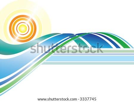 Abstract Summer - stock vector