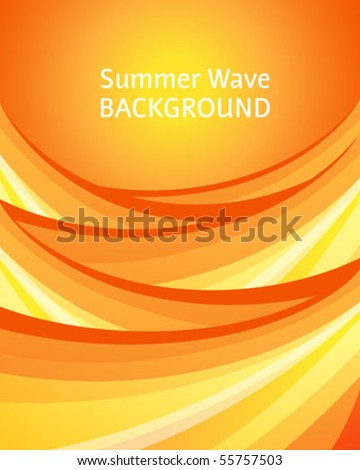 Abstract summer background with sunny waves
