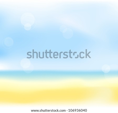 abstract summer beach blur background