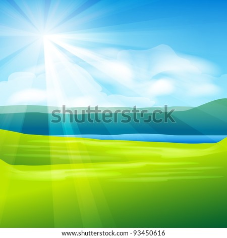 abstract summer landscape