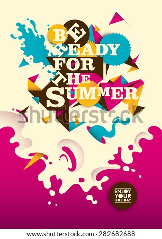 abstract summer poster design