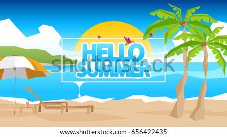 abstract summer vector