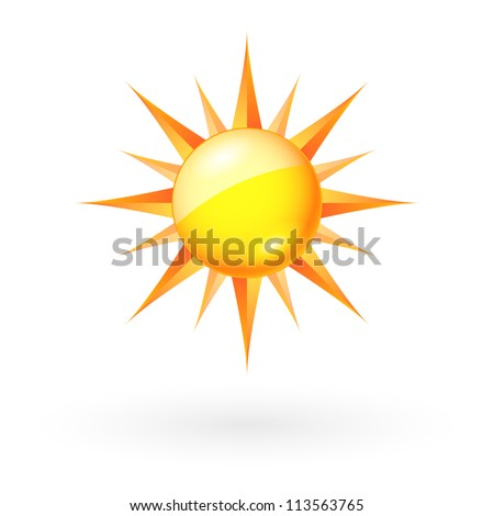 Abstract Sun icon. Illustration on white background for Web-design