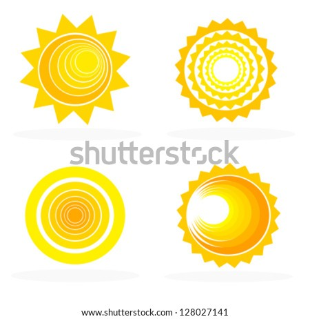 Abstract sun icons collection - vector illustration