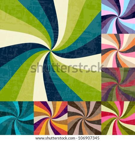 Abstract sunburst - pastel colorful