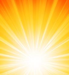 Abstract sunlight background. Orange burst