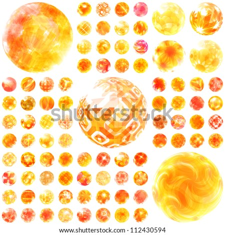 Abstract sunny set. Great collection.
