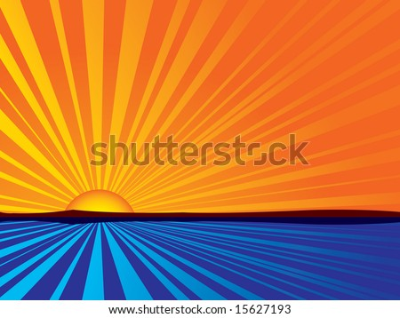 abstract sunrise