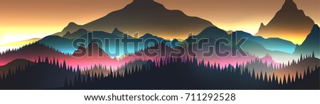 abstract sunrise panorama