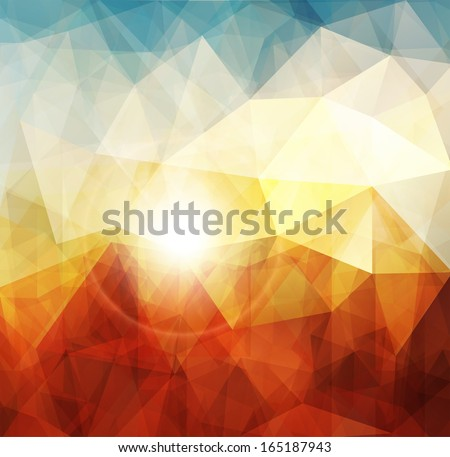 abstract sunset background