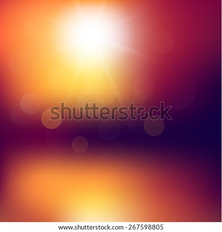 abstract sunset background with
