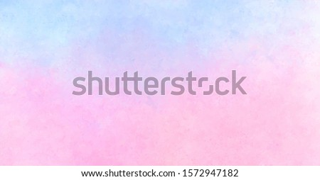 Abstract sunset sky background, hand painted watercolor texture, vector illustration
