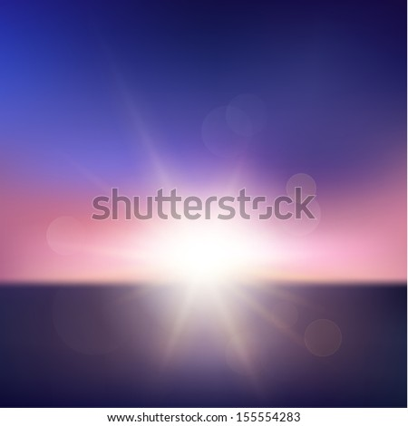 abstract sunset with defocused