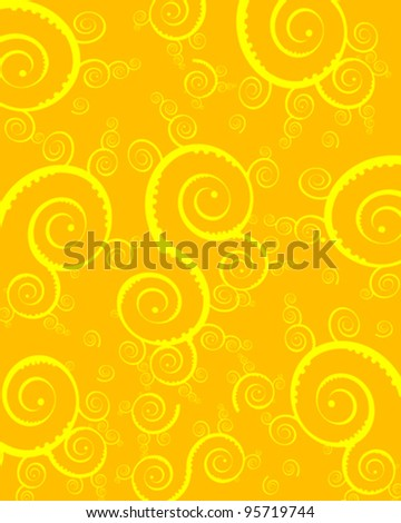 Orange and white swirl background